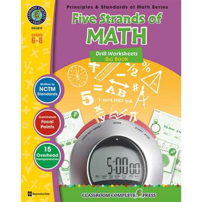 Drill Sheets Five Strands Of Math Big Book Gr 6-8 Principles Math By Classroom Complete