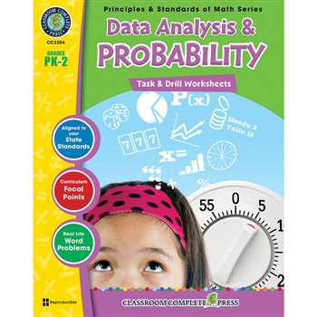 Gr Pk-2 Math Task&Drill Data Analy &Probability, CCP3304