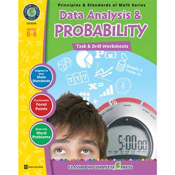 Gr 6-8 Math Task & Drill Data Analy & Probability, CCP3316