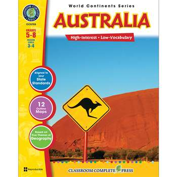 World Continents Series Australia By Classroom Complete