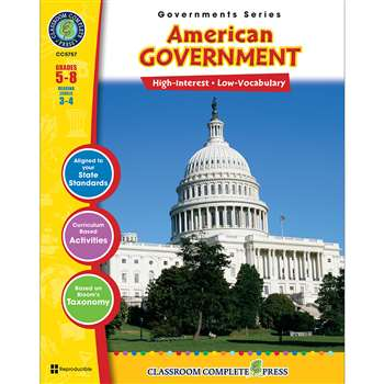 American Government Governments Series By Classroom Complete