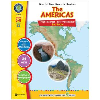 World Continents Series The Americas Big Book By Classroom Complete