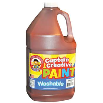 Captain Creative Brown Gallon Washable Paint By Certified Color