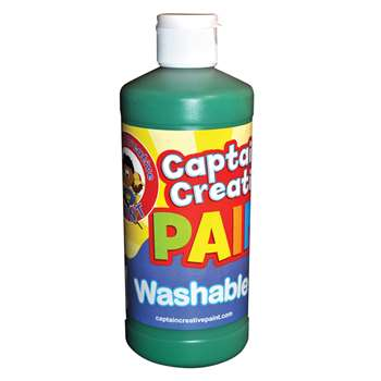 Captain Creative Green 16Oz Washable Paint By Certified Color