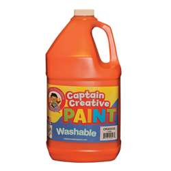 Captain Creative Orange Gallon Washable Paint By Certified Color