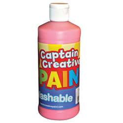 Captain Creative Pink 16Oz Washable Paint By Certified Color