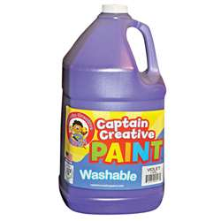 Captain Creative Violet Gallon Washable Paint By Certified Color