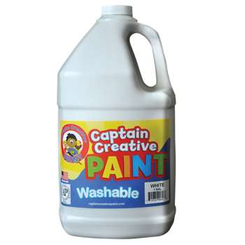 Captain Creative White Gallon Washable Paint By Certified Color