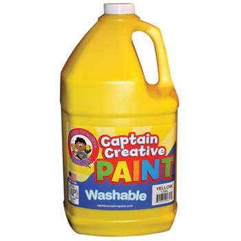 Captain Creative Yellow Gallon Washable Paint By Certified Color