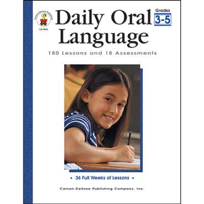 Daily Oral Language Gr 3-5 By Carson Dellosa