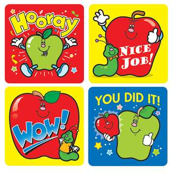 Stickers Apples 120/Pk Acid & Lignin Free By Carson Dellosa