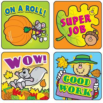 Stickers Fall Fun 120/Pk Acid & Lignin Free By Carson Dellosa