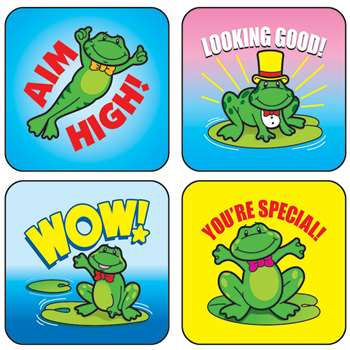 Stickers Frogs 120/Pk Acid & Lignin Free By Carson Dellosa