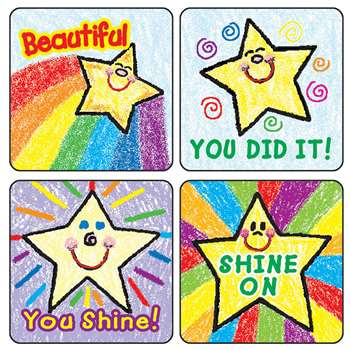 Stickers Stars Kid-Drawn 120/Pk Acid & Lignin Free By Carson Dellosa