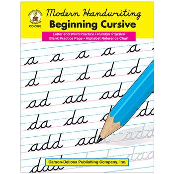 Modern Handwriting Beginning Cursive Book By Carson Dellosa