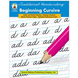 Traditional Handwriting Beginning Cursive Book By Carson Dellosa