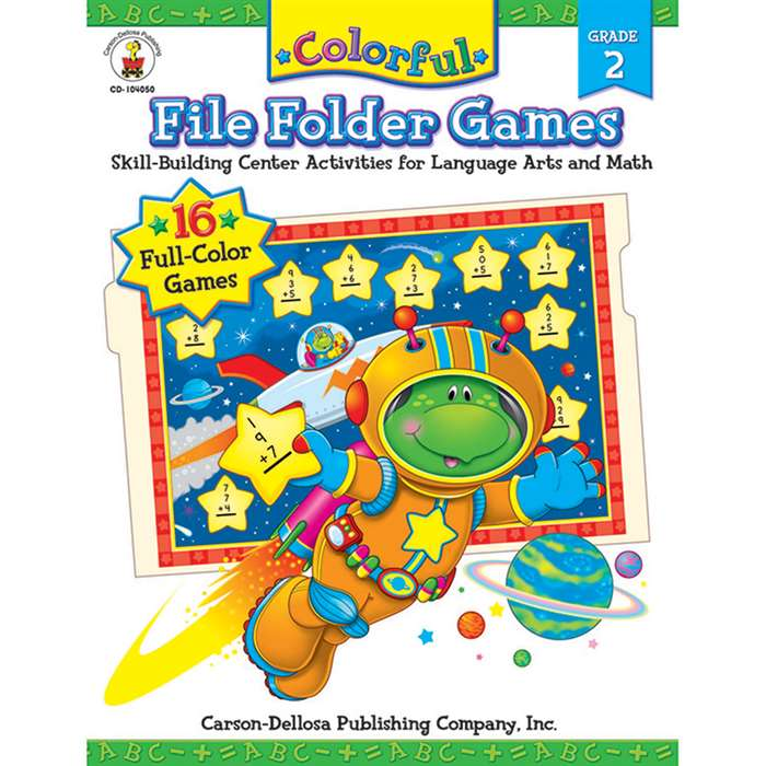 Colorful File Folder Games Grade 2 By Carson Dellosa