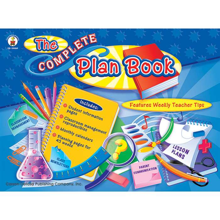 The Complete Plan Book By Carson Dellosa