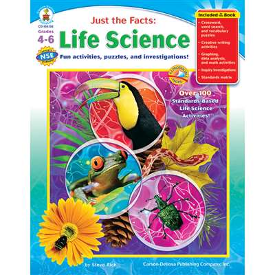 Just The Facts Life Science Books Gr 4-6 By Carson Dellosa