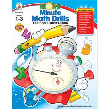Minute Math Drills Addition & Subtraction By Carson Dellosa