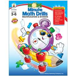 Minute Math Drills Multiplication Division By Carson Dellosa