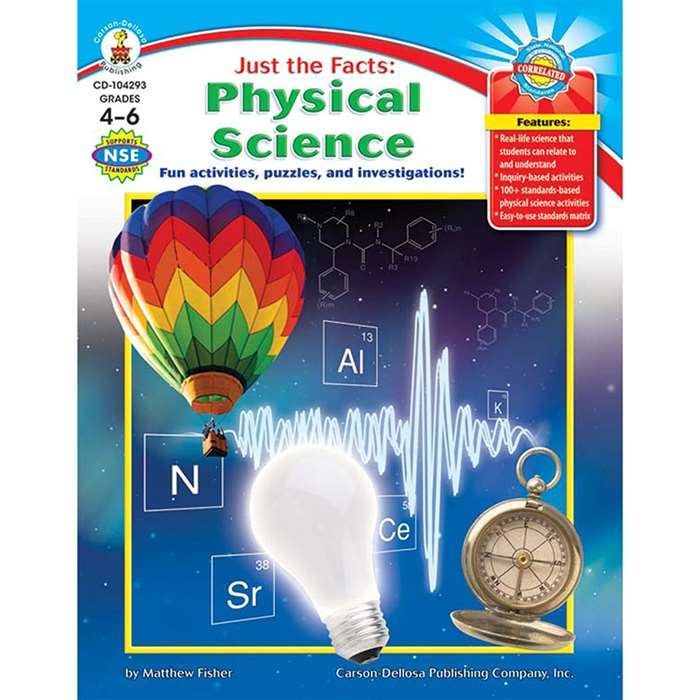 Just The Facts Physical Science Gr 4-6 By Carson Dellosa
