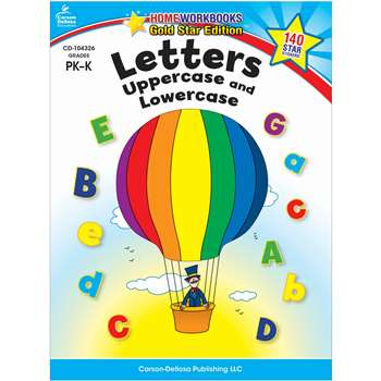 Letters Uppercase & Lowercase Home Workbook Gr Pk-K By Carson Dellosa