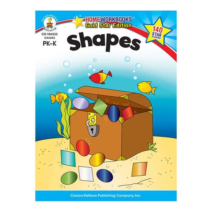 Shapes Home Workbook Gr Pk-K By Carson Dellosa