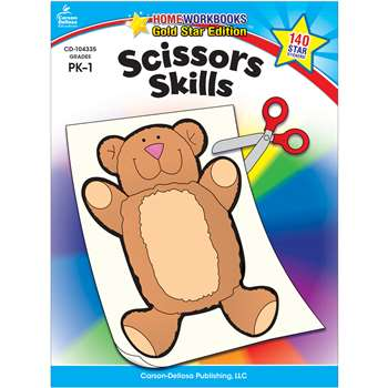 Scissors Skills Home Workbook Gr Pk-1 By Carson Dellosa