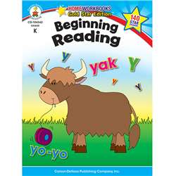 Beginning Reading Home Workbook Gr K By Carson Dellosa
