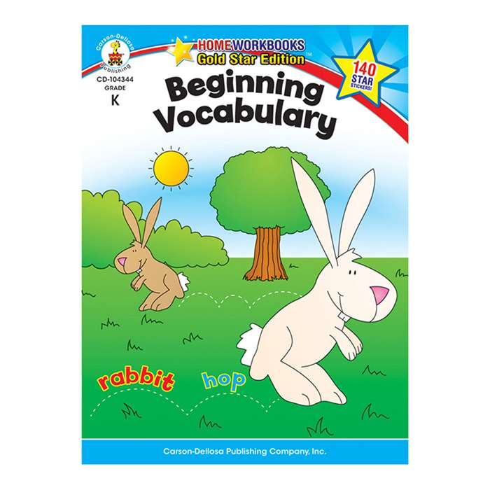 Beginning Vocabulary Home Workbook Gr K By Carson Dellosa