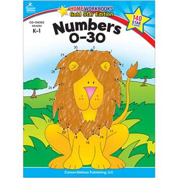 Numbers 0-30 Home Workbook Gr K-1 By Carson Dellosa