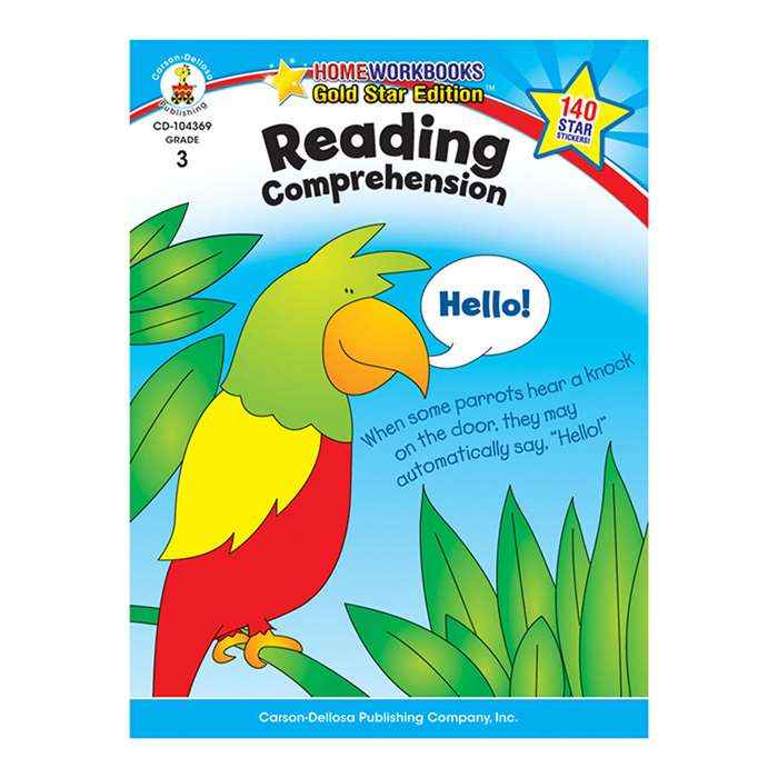 Reading Comprehension Home Workbook Gr 3 By Carson Dellosa