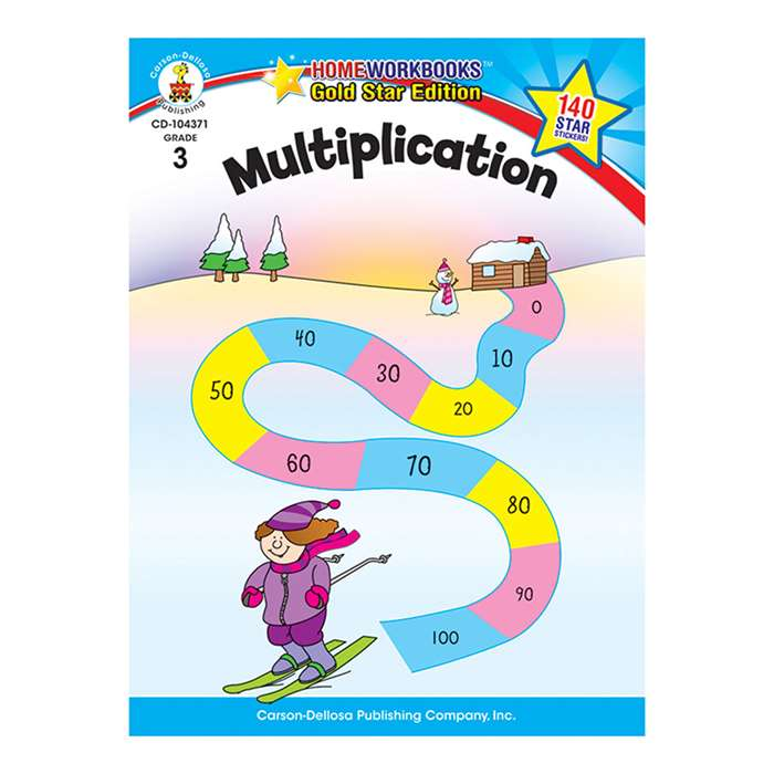 Multiplication Home Workbook Gr 3 By Carson Dellosa