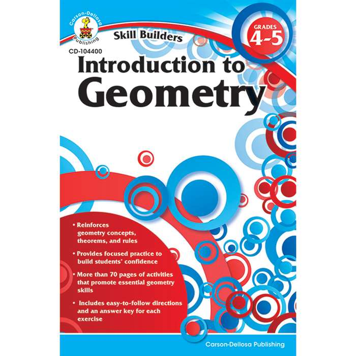 Skill Builders Introduction To Geometry By Carson Dellosa