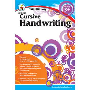 Skill Builders Cursive Handwriting By Carson Dellosa