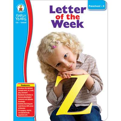 Early Years Letter Of The Week By Carson Dellosa