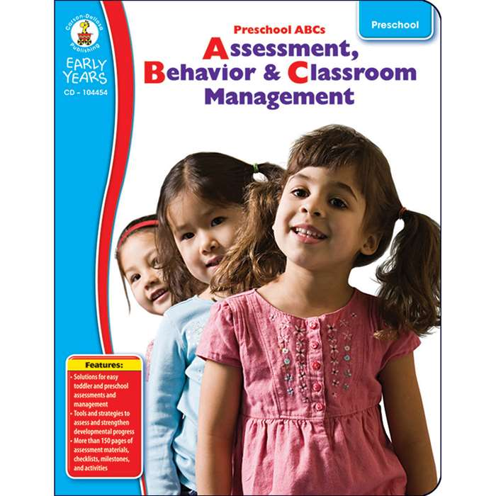 Early Years Pk Abcs Assessment Behavior & Classroom Management By Carson Dellosa