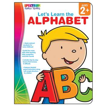 Lets Learn The Alphabet Spectrum Early Years By Carson Dellosa