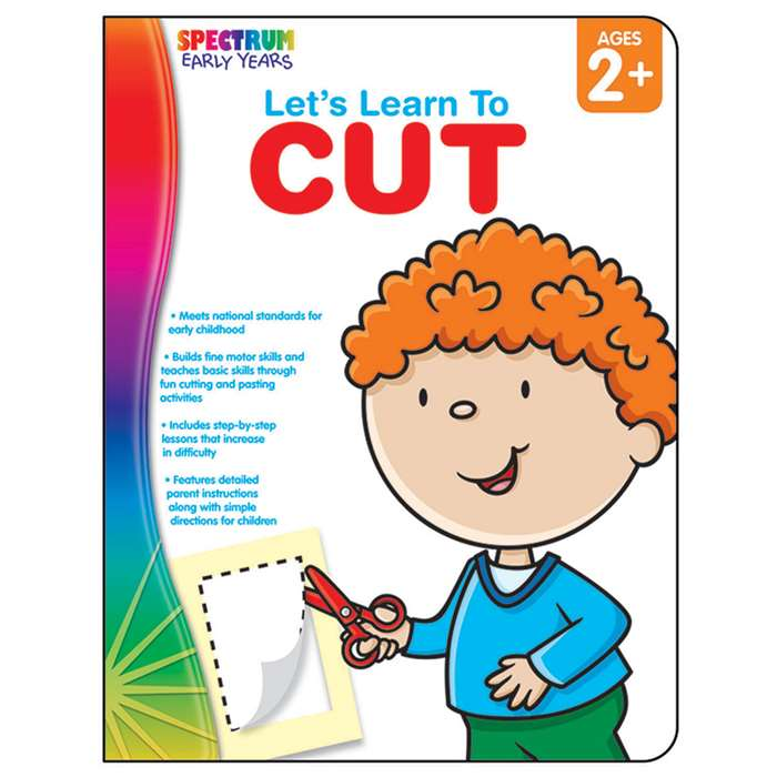 Lets Learn To Cut Spectrum Early Years By Carson Dellosa