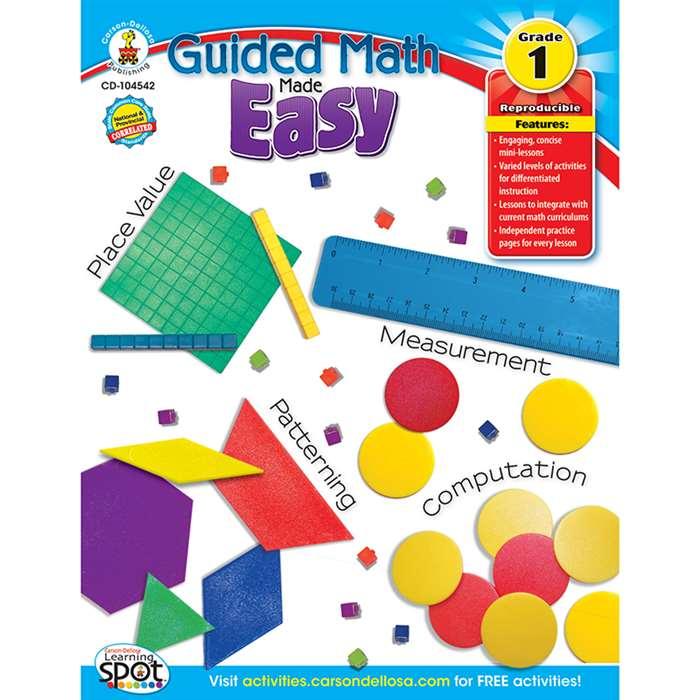 Guided Math Made Easy Gr 1 By Carson Dellosa