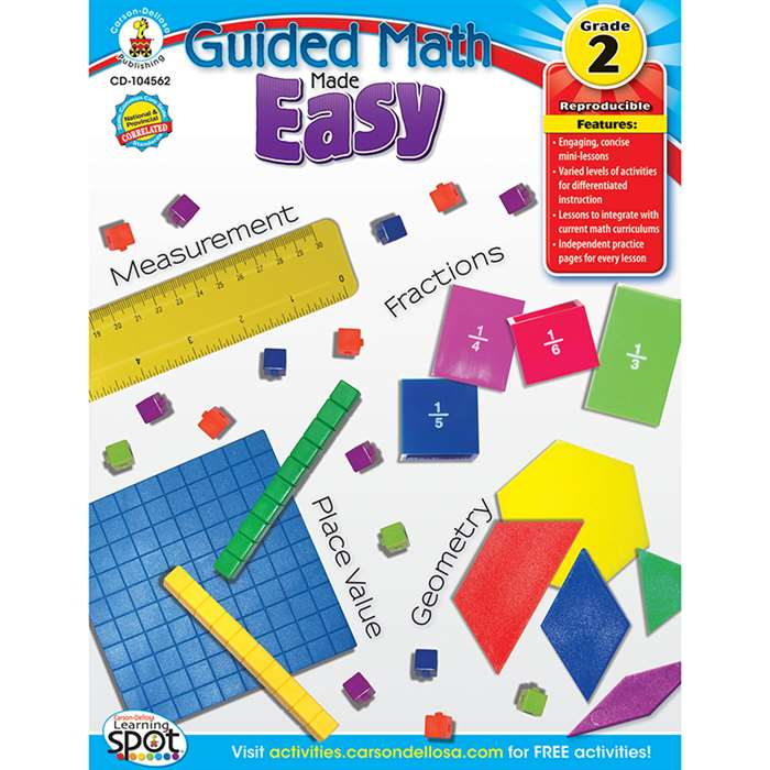 Guided Math Made Easy Gr 2 By Carson Dellosa