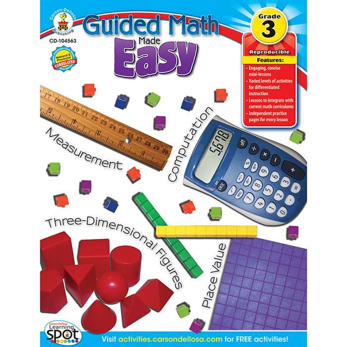 Guided Math Made Easy Gr 3 By Carson Dellosa