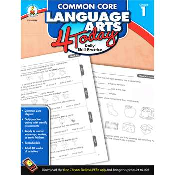 Language Arts 4 Today Gr 1 By Carson Dellosa