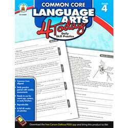 Language Arts 4 Today Gr 4 By Carson Dellosa