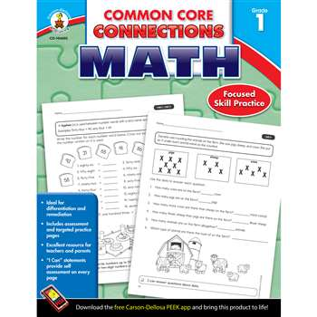 Shop Math Gr 1 Common Core Connections - Cd-104602 By Carson Dellosa