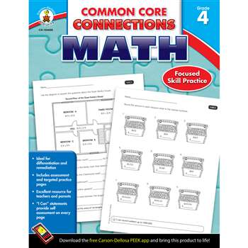 Shop Math Gr 4 Common Core Connections - Cd-104605 By Carson Dellosa