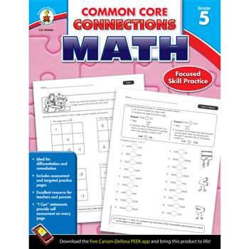 Shop Math Gr 5 Common Core Connections - Cd-104606 By Carson Dellosa
