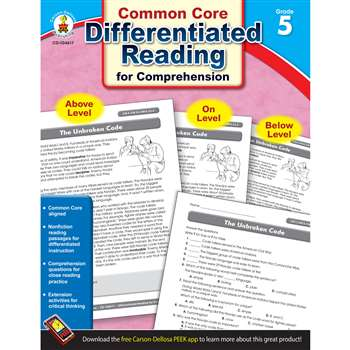 Shop Book 5 Differentiated Reading For Comprehension - Cd-104617 By Carson Dellosa