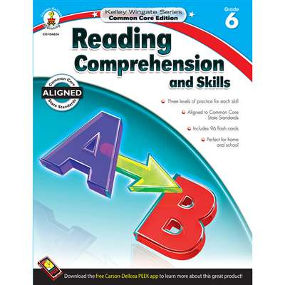 Shop Book 6 Reading Comprehension And Skills - Cd-104624 By Carson Dellosa